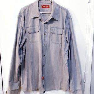 MEN'S Wrangler Denim Shirt Size XL